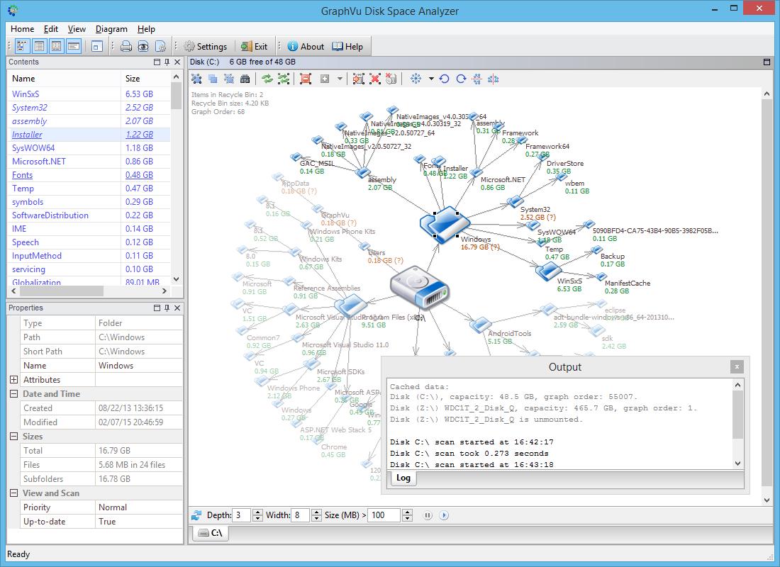 Windows 7 GraphVu Disk Space Analyzer 1.7 full